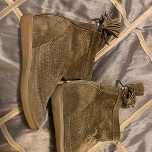Isabel Marant Perforated Boots! Brown Suede